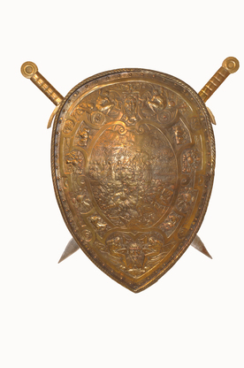 Decorative_Pressed_Copper_Shield_with_Swords_Circa_1950s_5__58373.1496257025.451.416